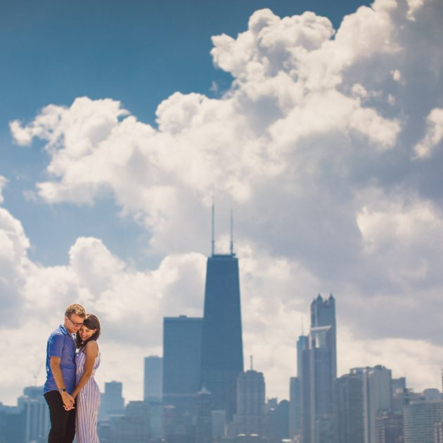 Old Town Engagement Session Chicago