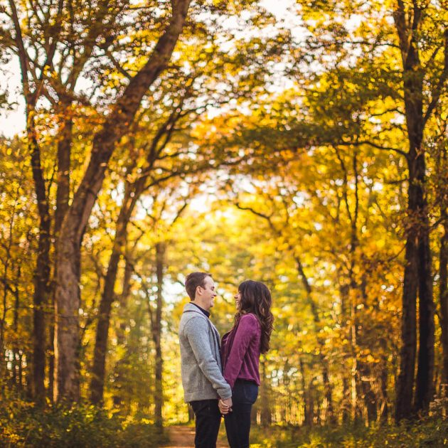 Busse Woods Engagement Photo